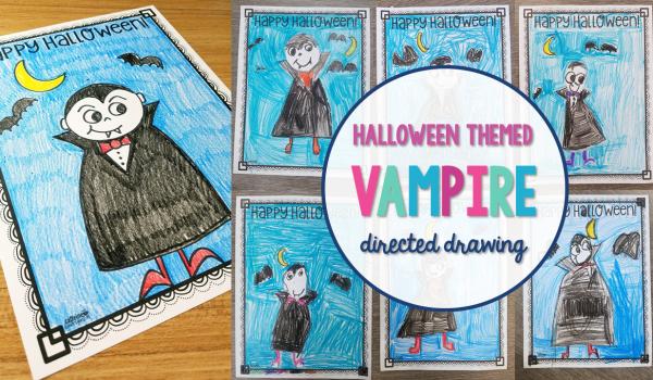 Halloween Vampire Directed Drawing