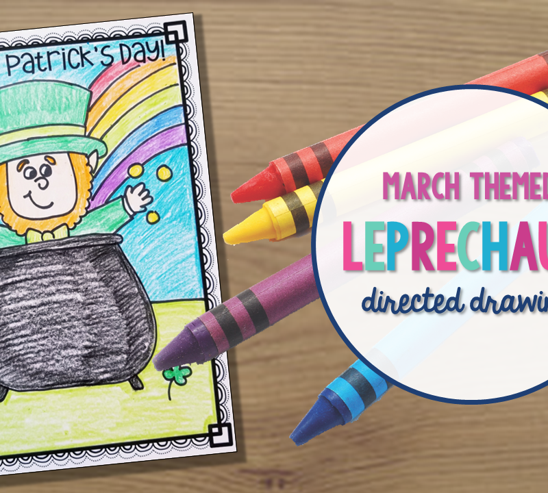 Leprechaun Directed Drawing for St. Patrick's Day